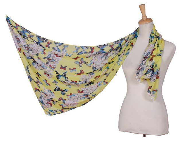 1 Beautiful butterfly and colorful painting Scarf