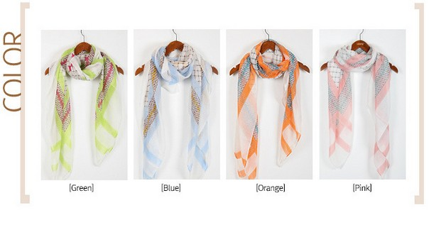 1 1 Geometry design viscose scarf/wrap for women