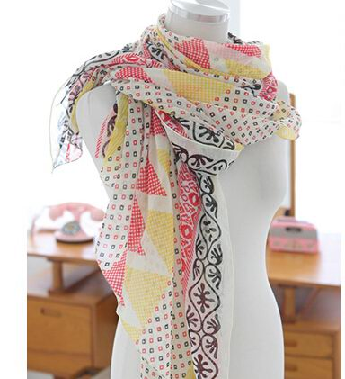 01275 Newest Viscose Scarf with small flowers print