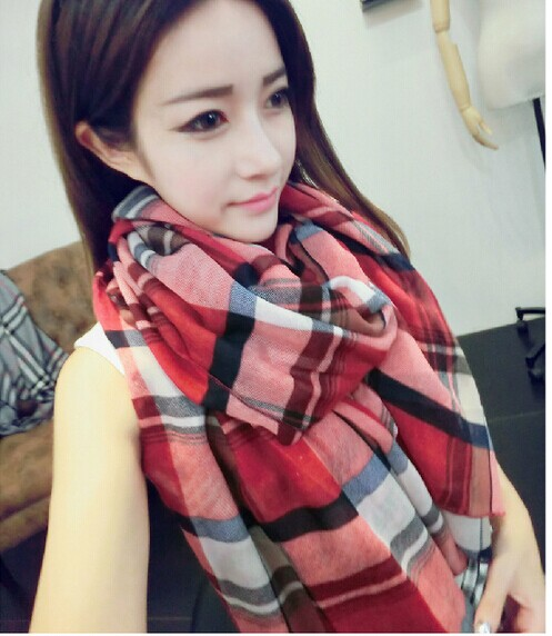 001290 Best Plaid Viscose Scarf