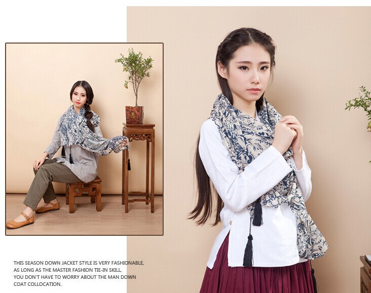 01292 Top quality viscose scarf for winter