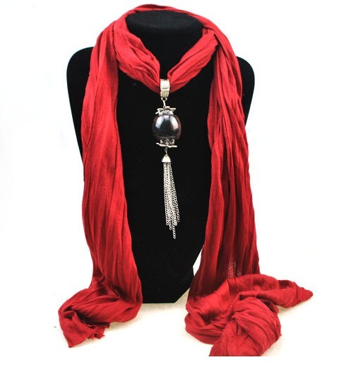 SEO_COMMON_KEYWORDS 2013 New viscose Scarf with Fashion Pendant attached