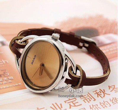 Women Leather Strap Design Watch Swiss