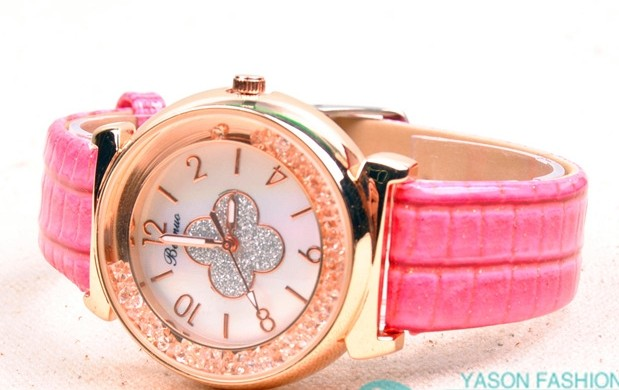 Shiny Colorful Leather Strap Watch Wholesale