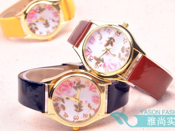 Floral Pattern Womens Watch Cheap Wholesale
