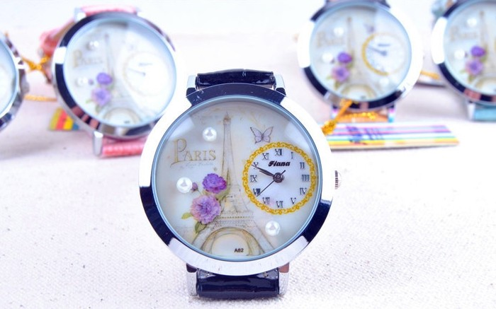 Paris Theme Nice Watch for Girls for Sale