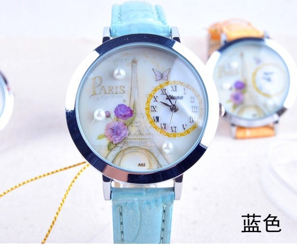 Paris Theme Nice Watch for Girls for Sale - Click Image to Close