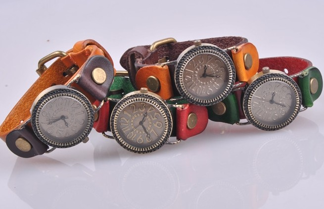Vintage Leather Strap Watch Online Wholesale