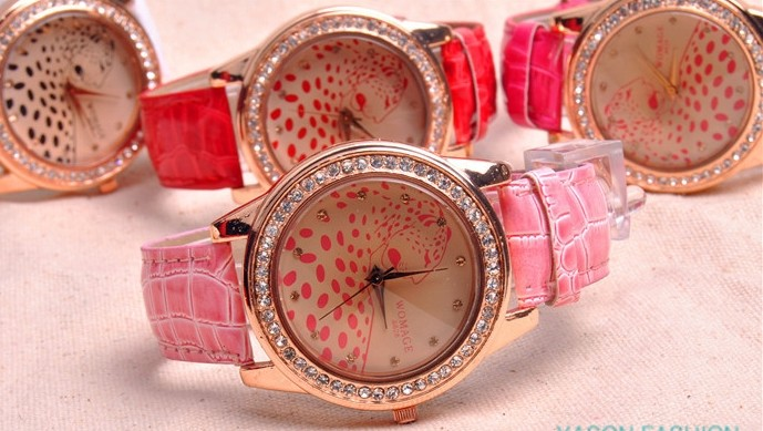 SEO_COMMON_KEYWORDS Beautiful Leopard Design Big Face Wrist Watch
