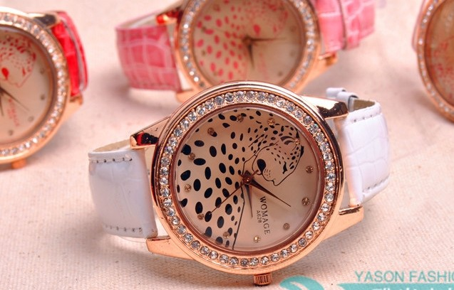 Beautiful Leopard Design Big Face Wrist Watch