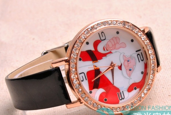 Christmas Santa Claus Face Fine Watch