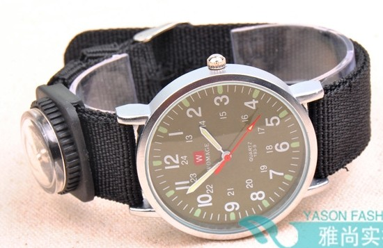 Nylon Band with Tiny Compass Watch Online