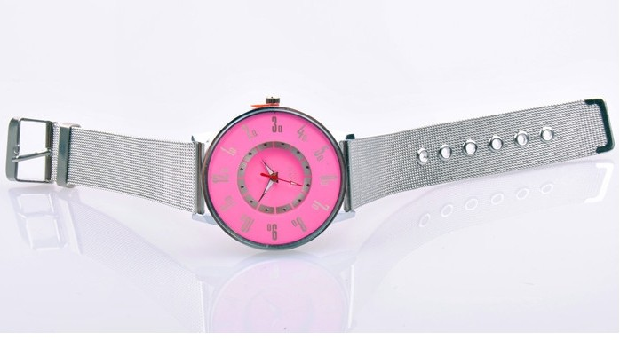 SEO_COMMON_KEYWORDS Colorful Face with Silver Band Watch for Sale