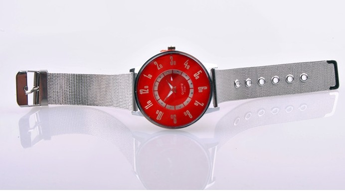 Colorful Face with Silver Band Watch for Sale
