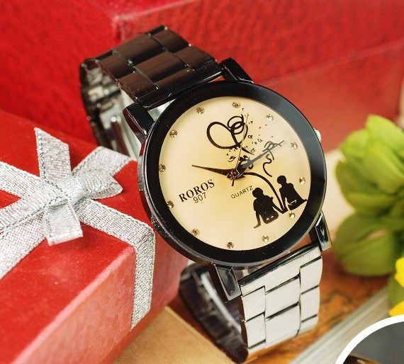 Classic Black Couple Watch Online Wholesale