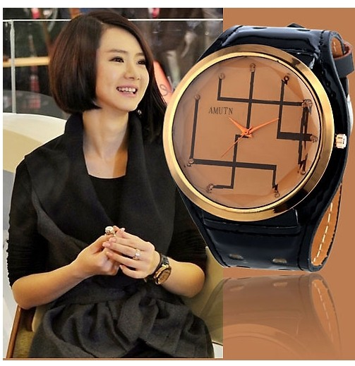 SEO_COMMON_KEYWORDS Fashion Line Design Face Watch for Nymph