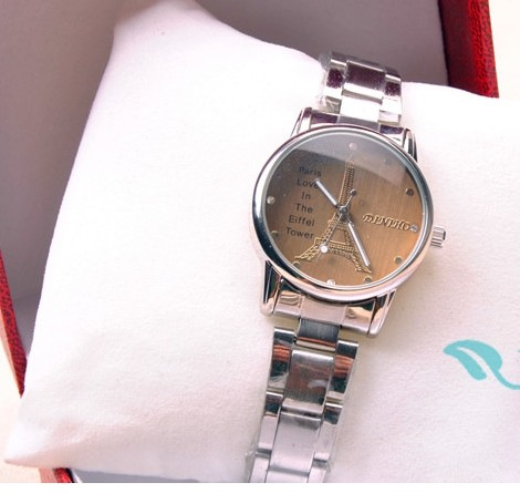 Classic Eiffer Tower Love Silver Wrist Watch