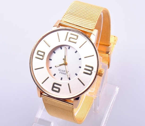 SEO_COMMON_KEYWORDS Golden Metal Band with Holes Womens Watches