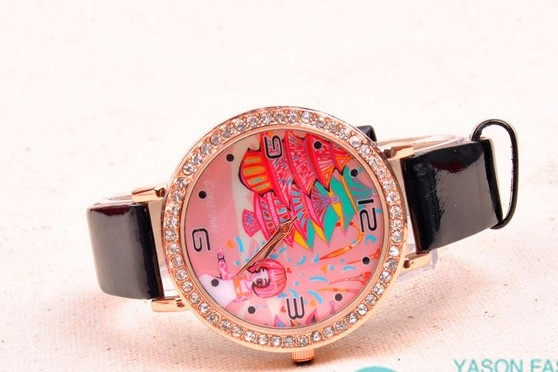 SEO_COMMON_KEYWORDS Lovely Pattern Face Girls Watch Online Wholesale