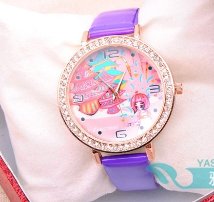 Lovely Pattern Face Girls Watch Online Wholesale