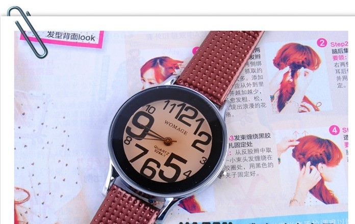 Big Number Analogue Watches for Women
