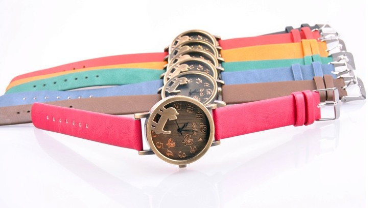 Fashion Pet Design Case Frosted Band Watch