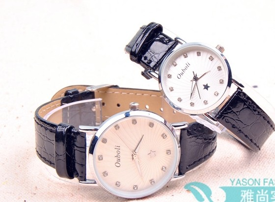 Silver Big Dial Couple Watch Online Wholesale