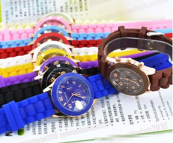 Fashion Designer Jelly Color Wrist Watches