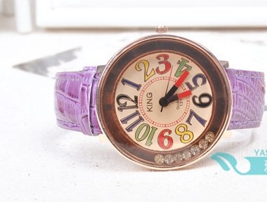 Colorful Number Markers Ladies Watch Cheap Sale