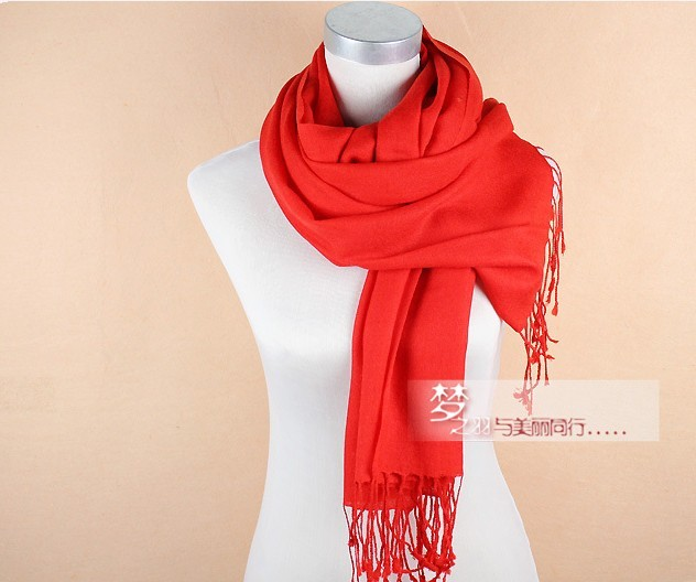 2013 Winter Lady's long design plain colors 100% wool scarf whol