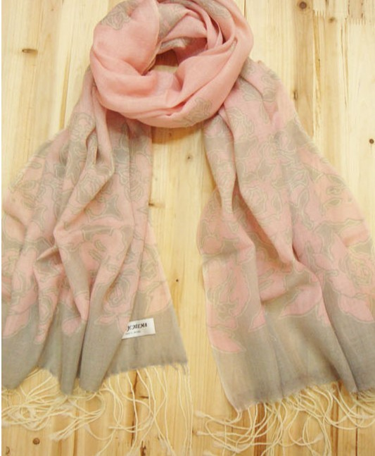 Buy Trendy 100% Wool pink Scarf online store [WOOL024]