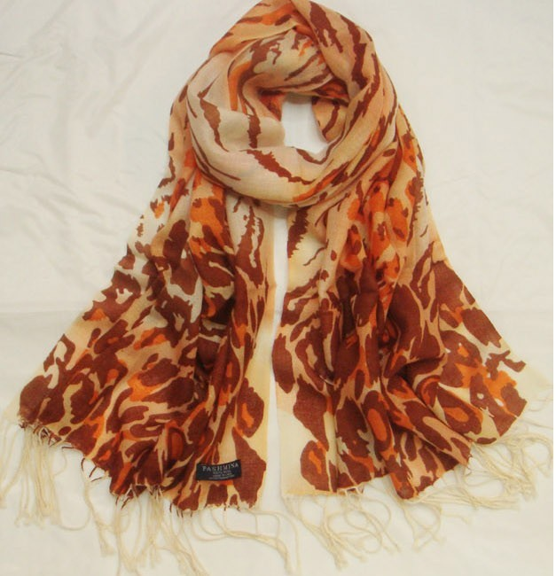 100% Cashmere WOOL scarf with fashion animal print designs