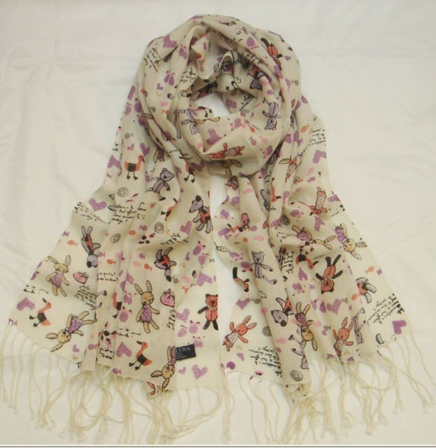 SEO_COMMON_KEYWORDS 2013 Trendy 100% Wool scarf/wrap/shawl with Animal designs