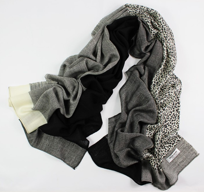 SEO_COMMON_KEYWORDS Plain Color and Leapard print style 100% Wool scarf wholesales