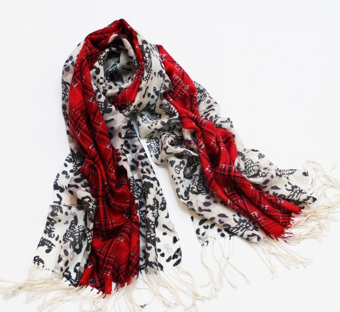 2013 Popular selling Ladies 100% wool scarf with colorful