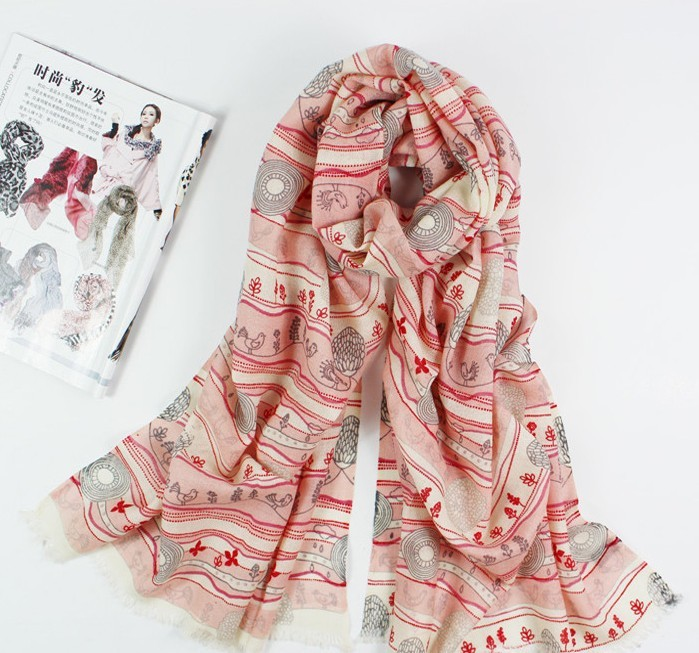 SEO_COMMON_KEYWORDS Paris Tendy Pink Winter Scarf/Shawl On Sale 2013