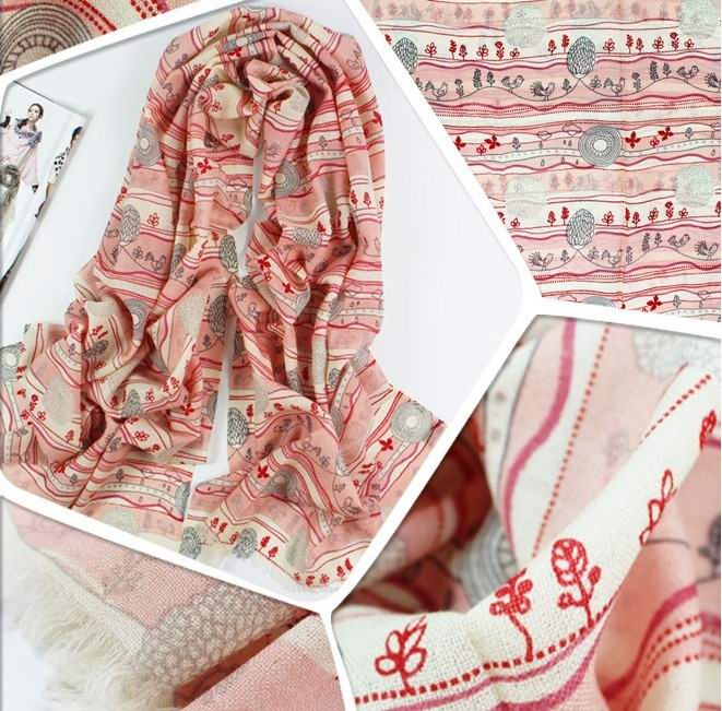 Paris Tendy Pink Winter Scarf/Shawl On Sale 2013