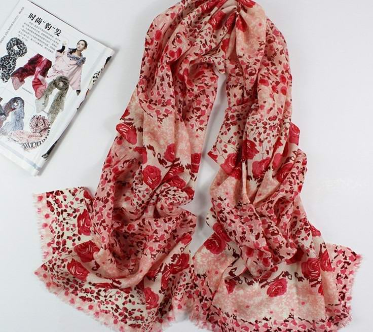 SEO_COMMON_KEYWORDS USA Red Scarf with 100% Pure Wool Fashion styles