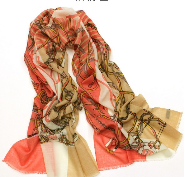 SEO_COMMON_KEYWORDS 100 WOOL098 Fashion Chain Style Wool Scarf Paris
