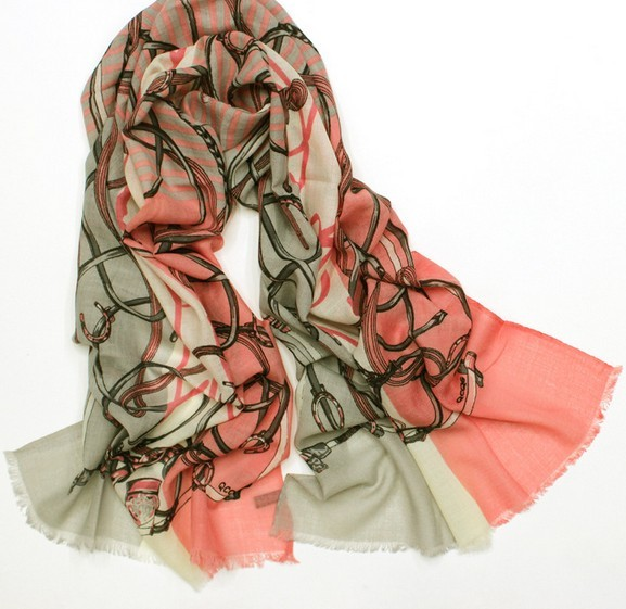 100 WOOL098 Fashion Chain Style Wool Scarf Paris