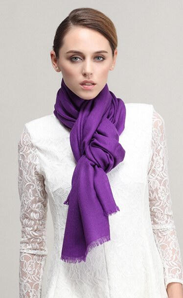 003 Purple Wool Scarf On sale