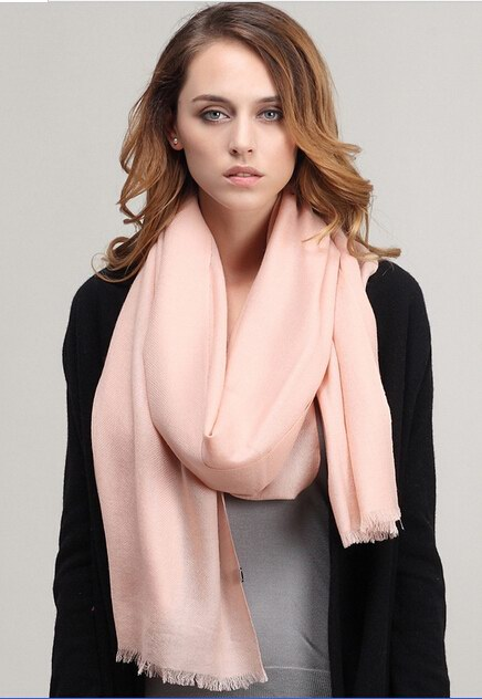 005 Plain Color Wool Scarf Wholesale