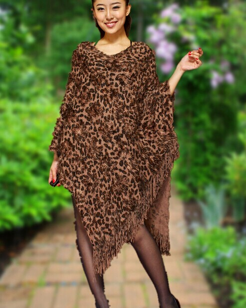 Animal Print Ponchos Wholesale