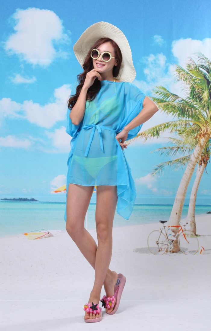 Cheap Beach Ponchos Wholesale Solid colors
